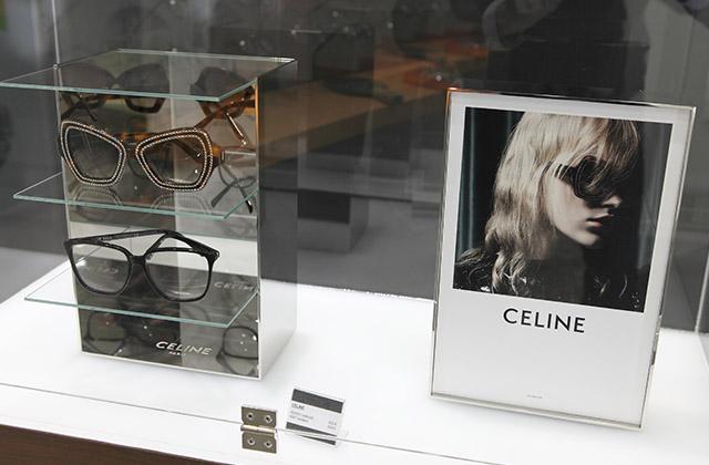 Lunettes Céline opticien vitrine